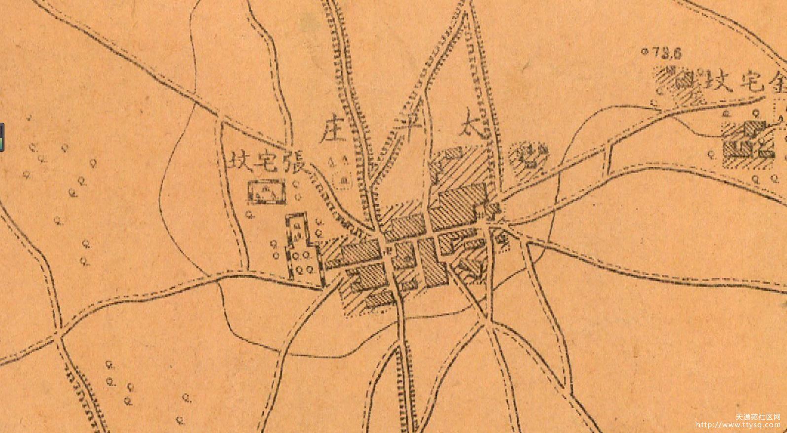 来,来,来,太平庄的村民,对着这张图找找你们家1913年的位置。