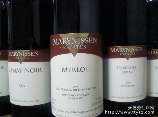 Marynissen红酒 加拿大原瓶进口